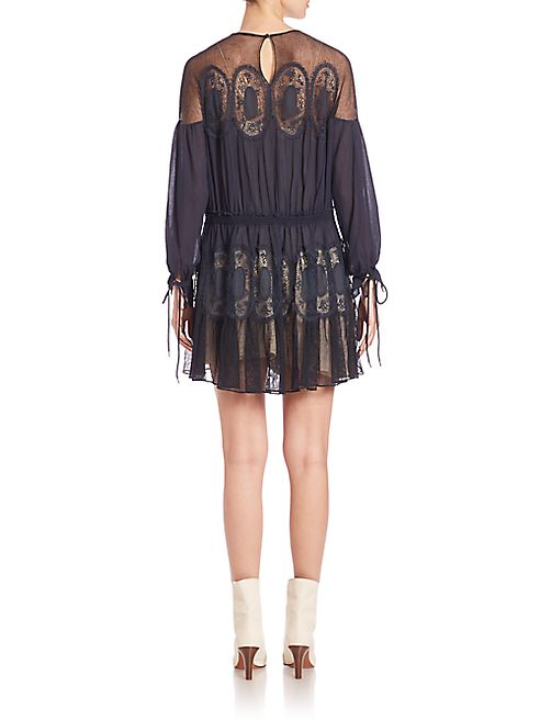 Chloé - Cotton Voile Medallion Dress