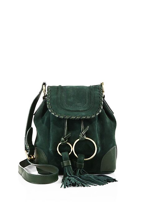 156fa6cd63 See by Chloé - Small Polly Suede Bucket Bag