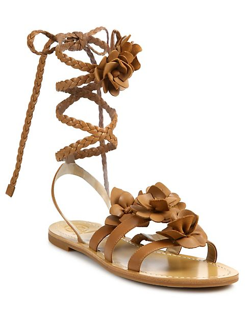 3e9a7bdab79173 Tory Burch - Blossom Gladiator Leather Sandals