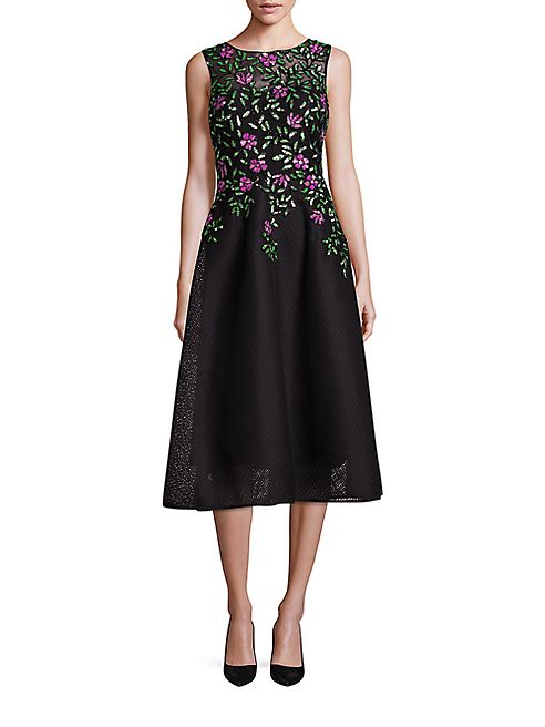 Teri Jon by Rickie Freeman - Embellished A-Line Dress